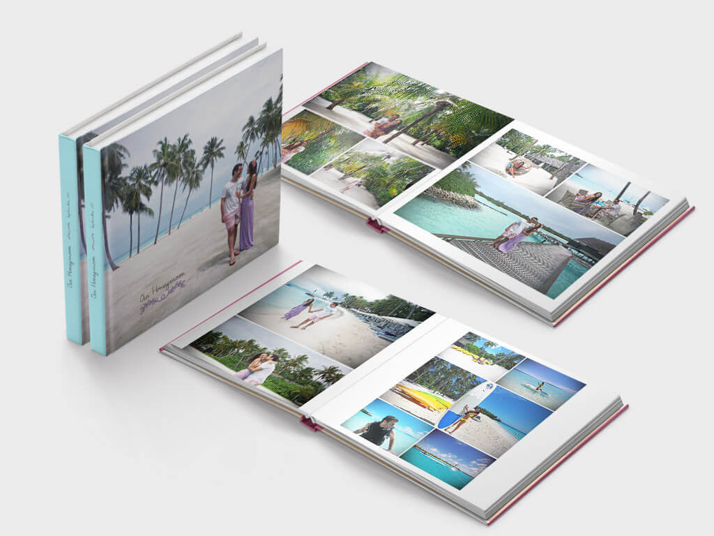 Honeymoon photo book - square format - Layflat