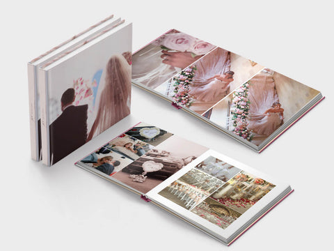Wedding photo book - square format - layflat - design 1