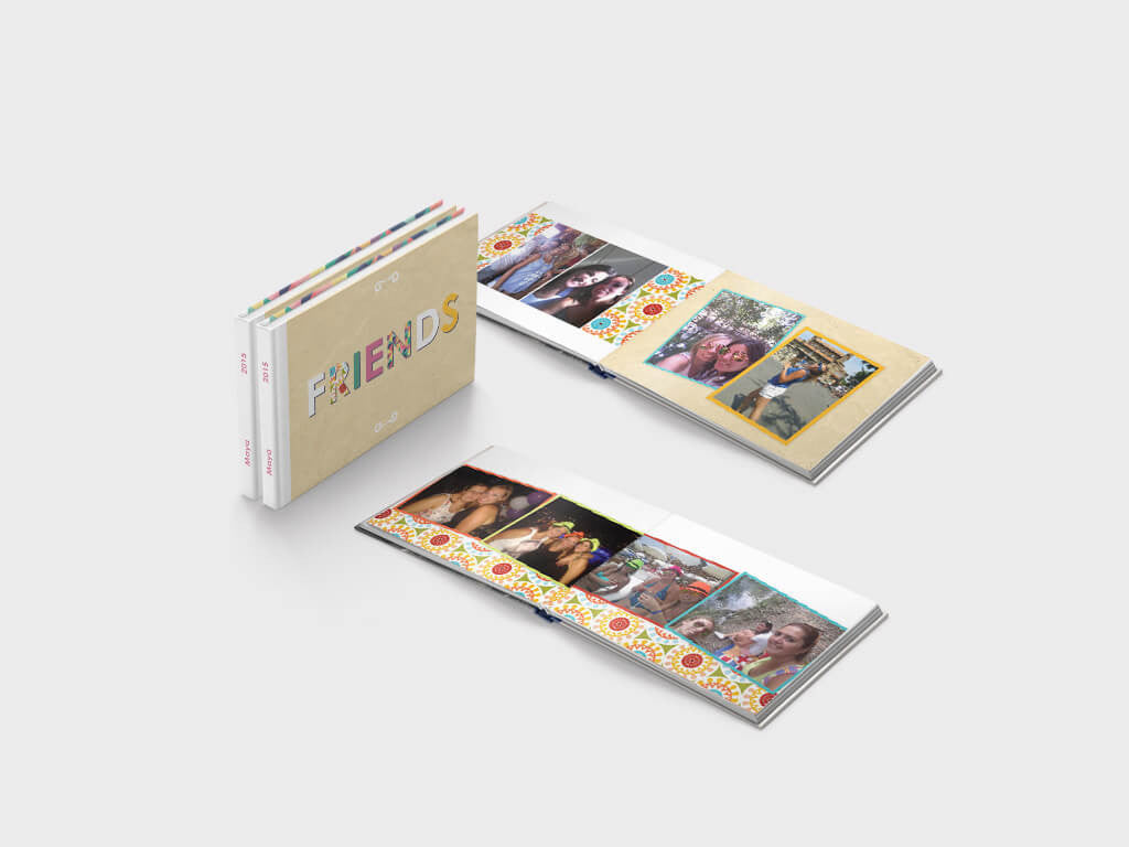 Friends' memories - mini landscape photo book - lay-flat