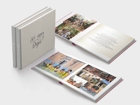 anniversary photo book - square format - Layflat
