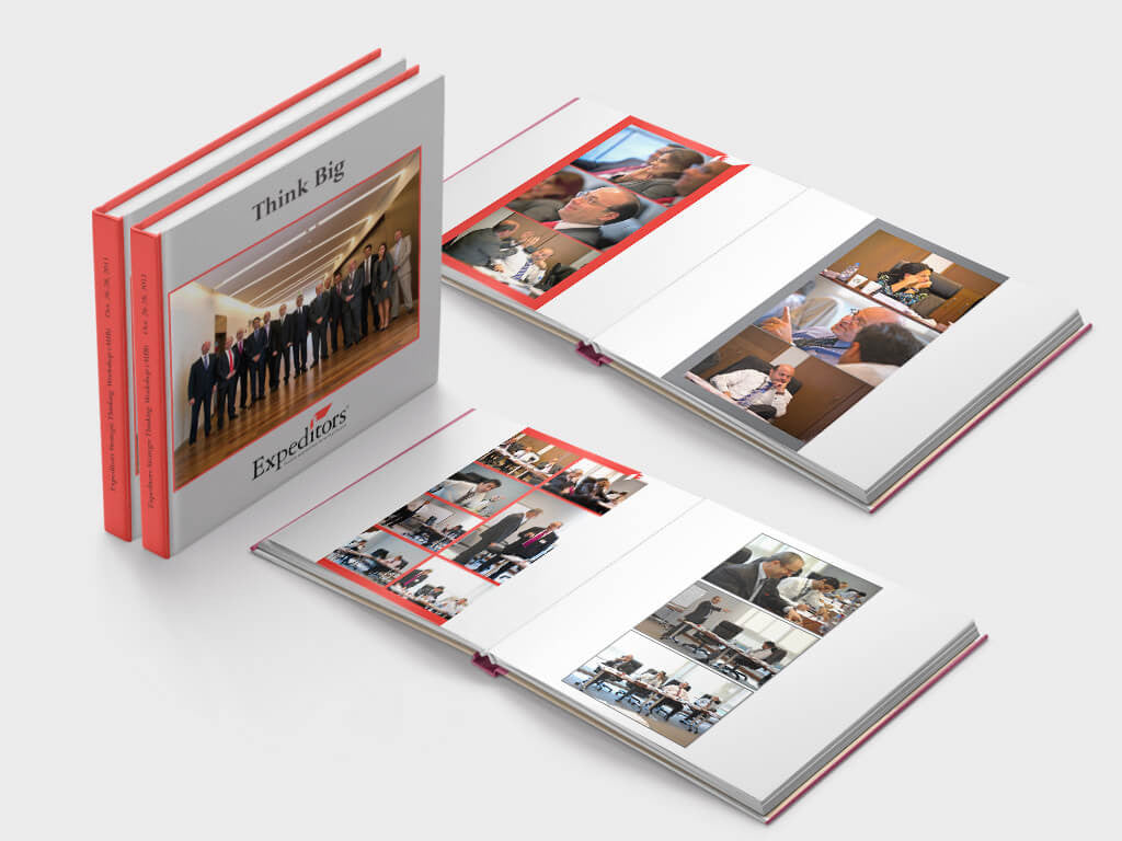 Corporate photo book - expeditors - square format - Layflat