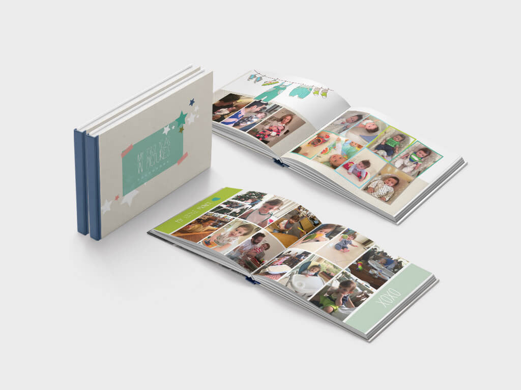 Baby boy photo book - A5 landscape format - soft paper