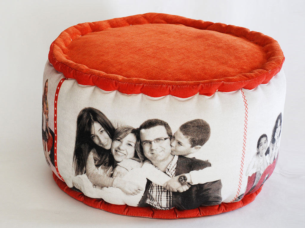 Personalized Christmas Poufs