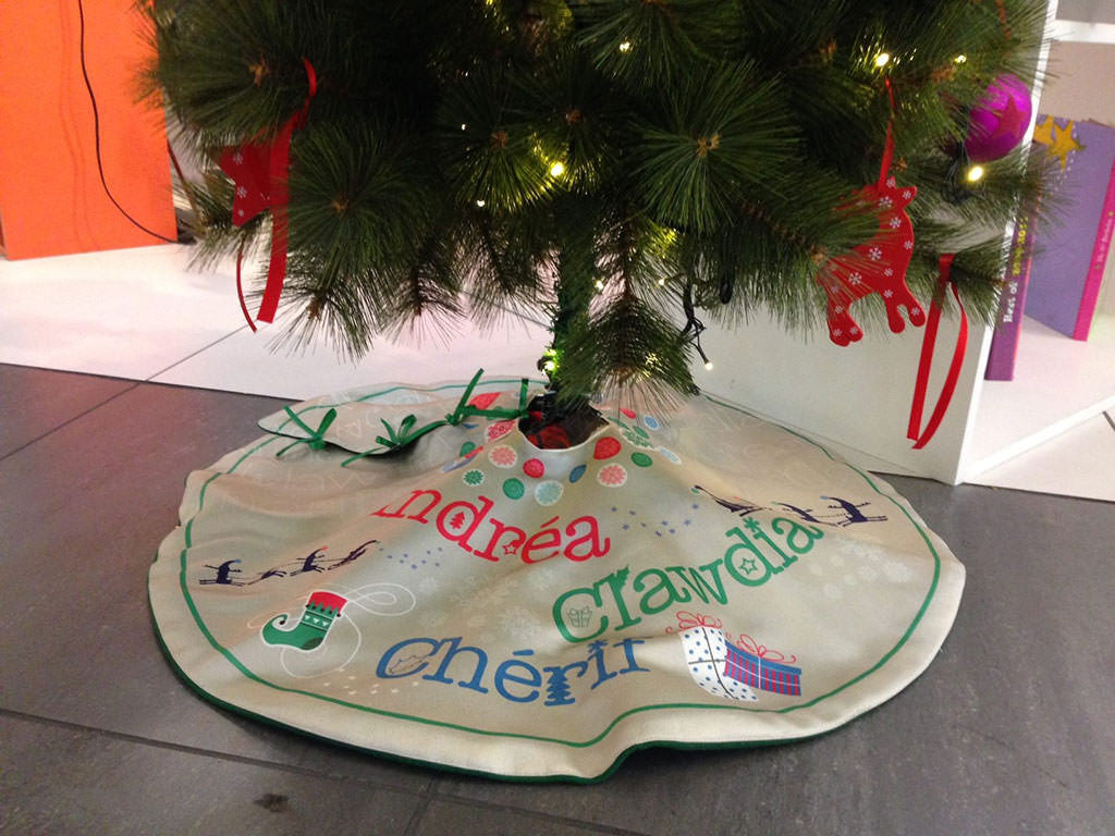 ... Personalized Christmas Tree Skirts