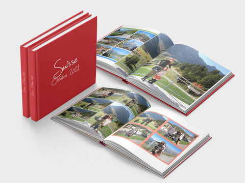 Soft paper travel photo book - square format - design 2