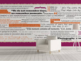 Personalized Typo Wallpaper - Memento wall art
