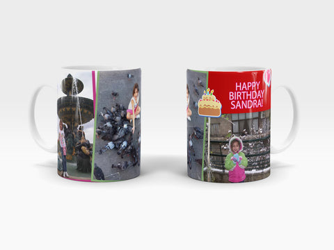 Custom Happy Birthday Ceramic Mug - Design 1