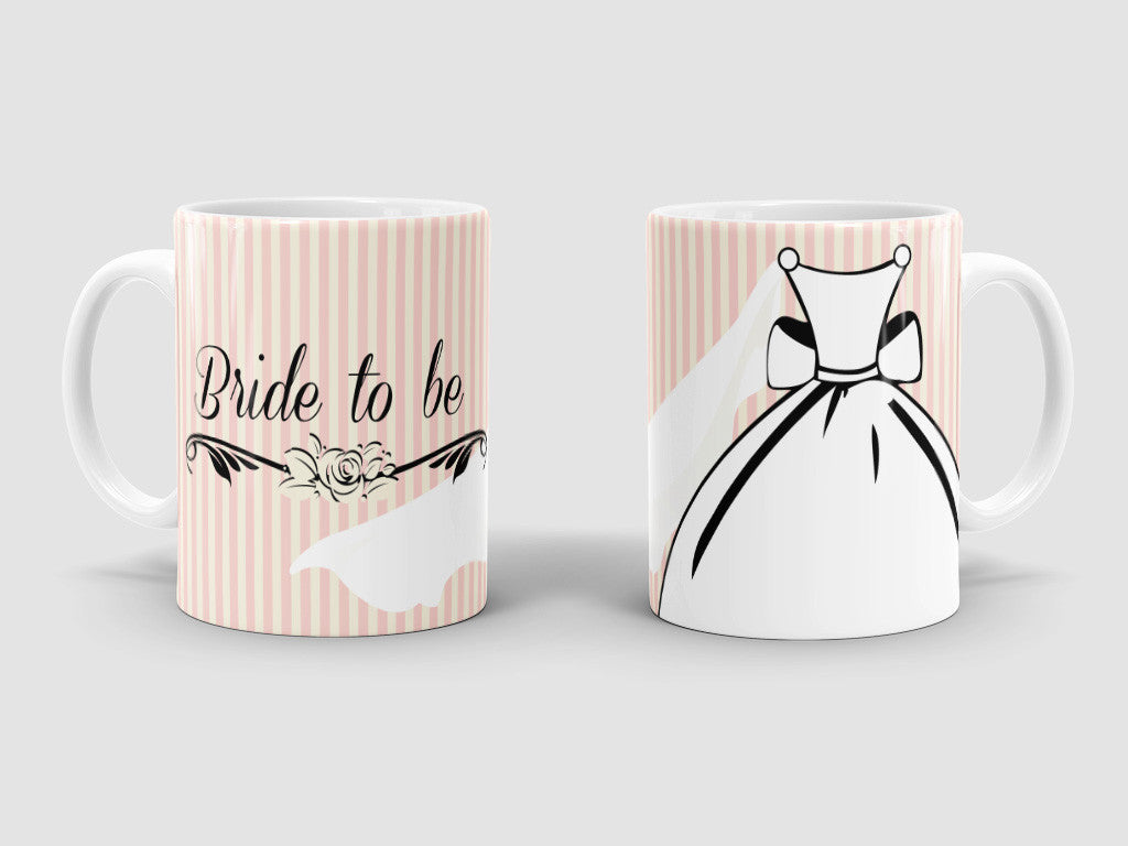 Bride to be custom designed mug.