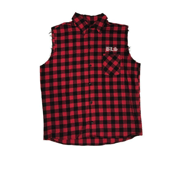 BLS Red Flannel Vest
