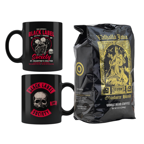 St Valentine's Chapter Coffee Mug + Valhalla Odinfoce Blend Coffee Bundle