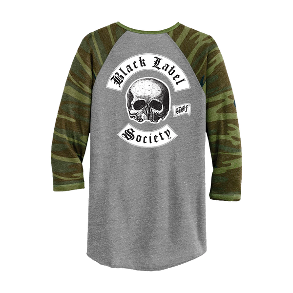 "Black Label Society ""Worldwide"" Camo Raglan"