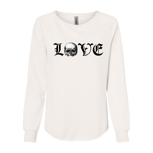 LOVE Ladies White Crewneck