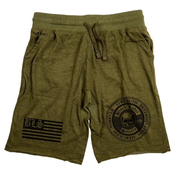 "Black Label Society ""SDMF"" Army Green Shorts"