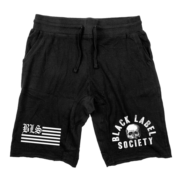 "Black label Society ""BLS FLAG"" Black Shorts"