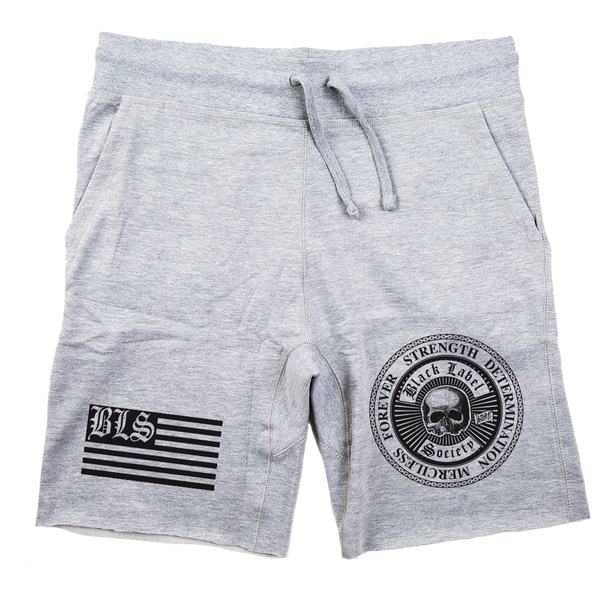"Black Label Society ""SDMF"" Heather Grey Shorts"
