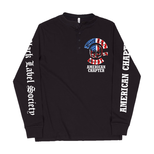 American Chapter Black Henley