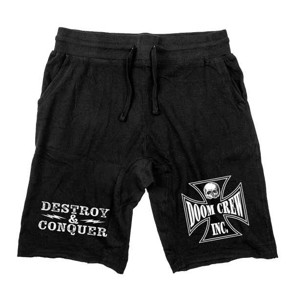 "Black Label Society ""Doom Crew Inc"" Black Shorts"