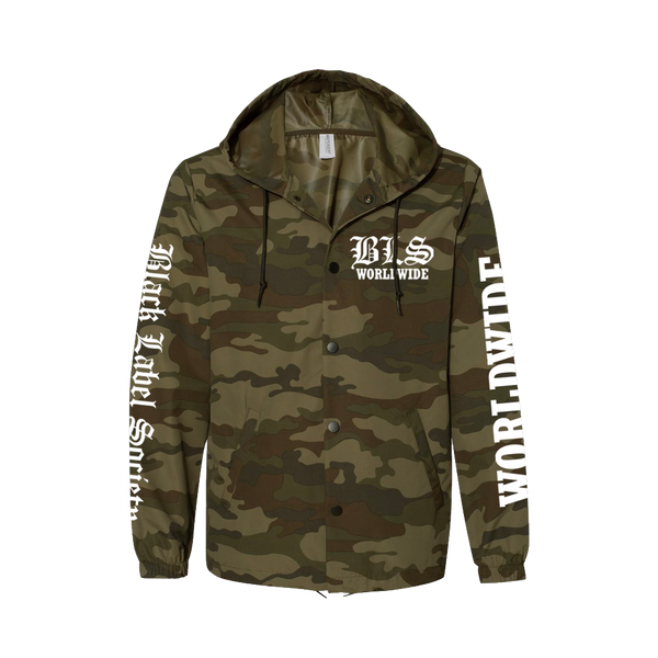 "Black Label Society ""Worldwide"" Camo Windbreaker"