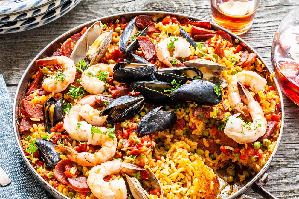 Spanish Paella With Saffron Recipe