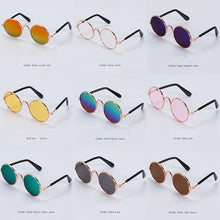Load image into Gallery viewer, 1PC Lovely Pet Cat Glasses Dog Glasses Pet Products Kitty Toy Dog Sunglasses Photos 3 cm Pet Accessoires Round Colorful