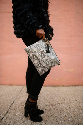 Animal Print Crossbody Clutch