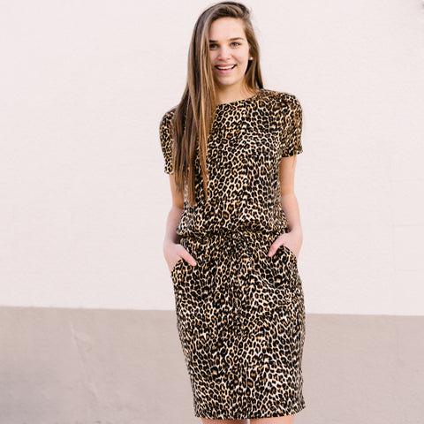 Leopard Print T-shirt Dress *PREORDER - Est. ship date 2/17!*