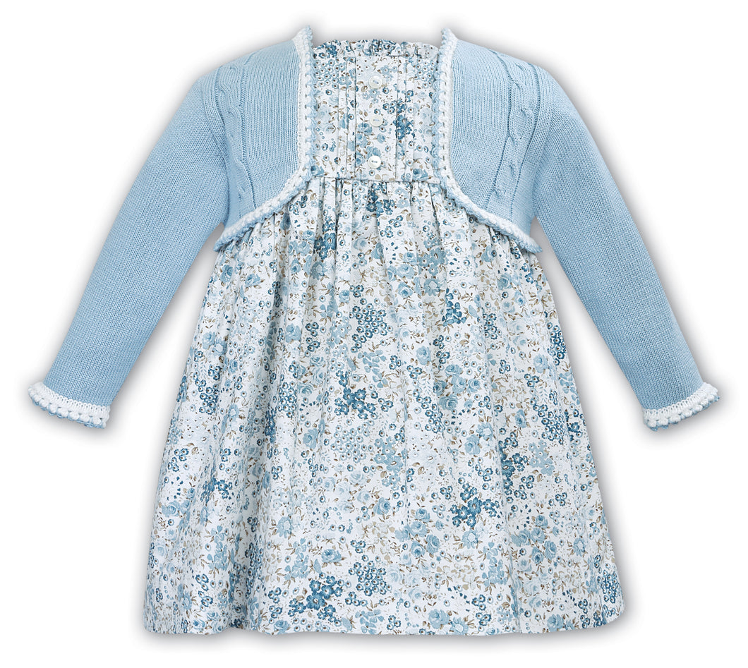 Sarah Louise blue/ivory dress