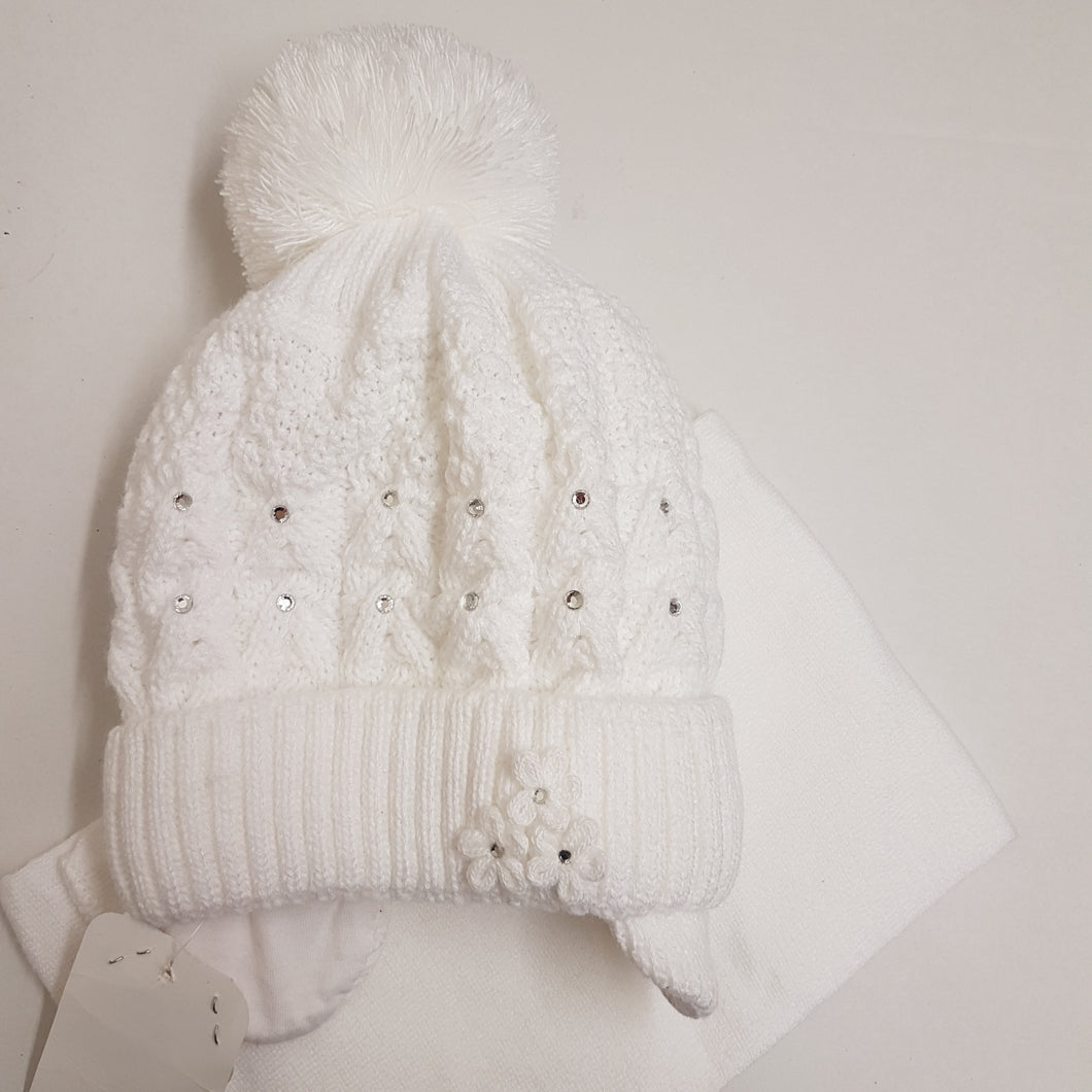 Winter girls knitted hat 3-5year