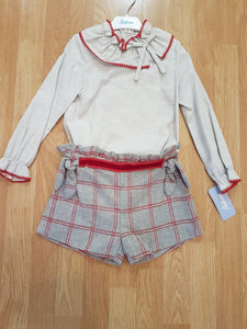 Babiné grey & red winter set for girls