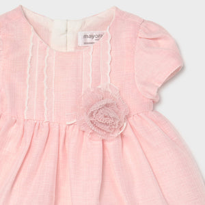 Pink baby dress & knickers