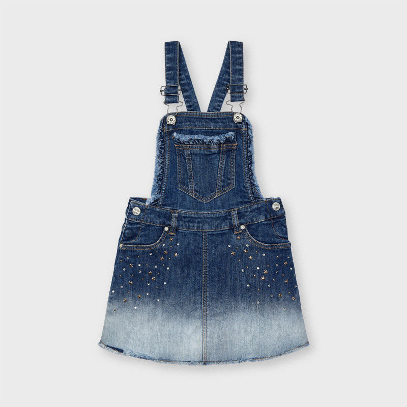 Denim skirt dungarees
