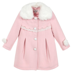 coat & hat pink or red
