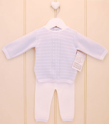Knitted baby boy outfit
