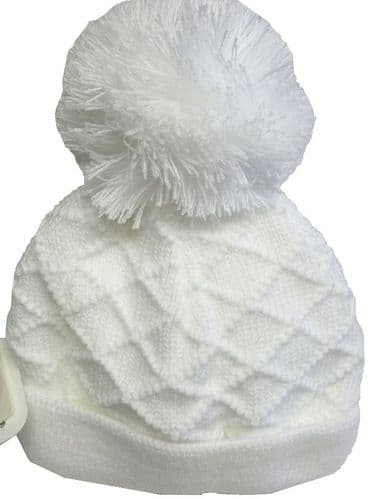 Baby winter big pom hat
