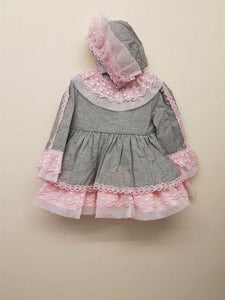 Miranda baby dress & bonnet