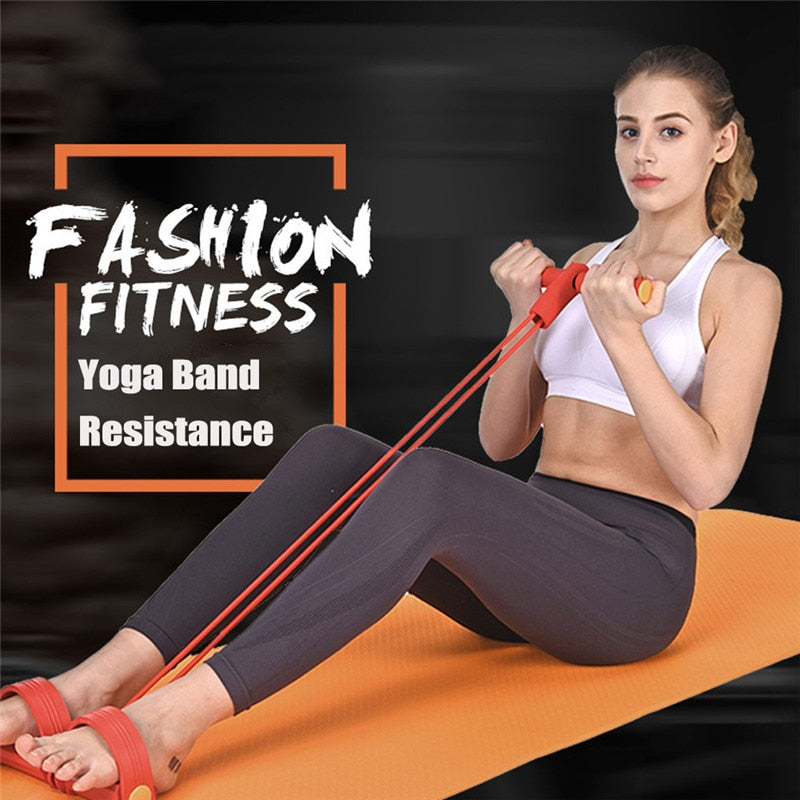 4 TUBES STRONG FITNESS YOGA RESISTANCE BANDS