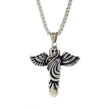 Necklace - Silver Archangel Necklace - Tossari - 1