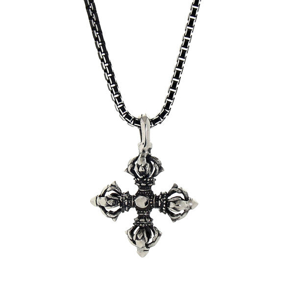 Necklace - Silver Vajra Star Necklace - Tossari  - 1