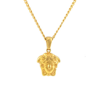 Necklace - 18kt Gold Micro Medusa