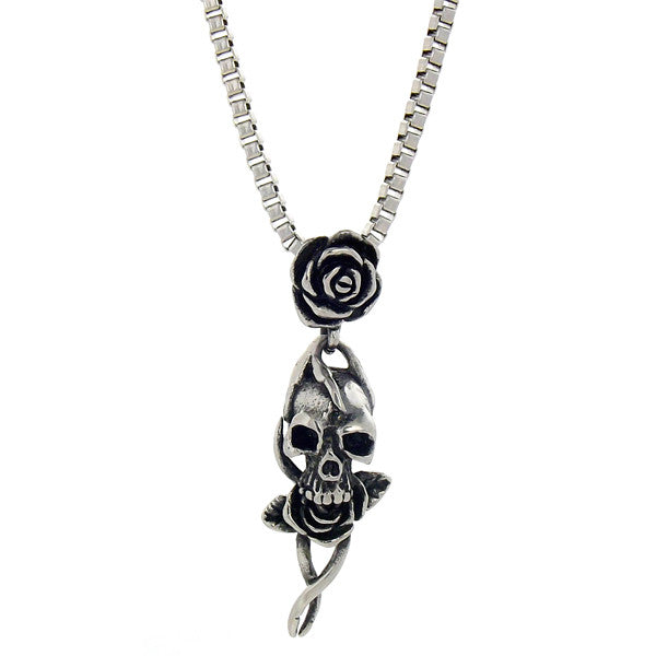 Necklace - Silver Skull N