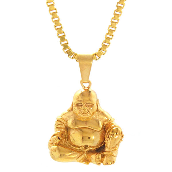 Necklace - 18kt Gold Properity Fat  Buddha
