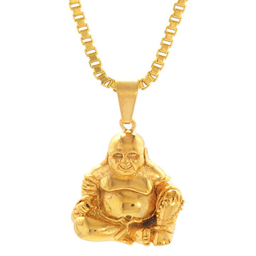 Necklace - 18kt Gold Prosperity Fat  Buddha