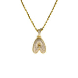 Necklace - 18kt Gold Bubble A