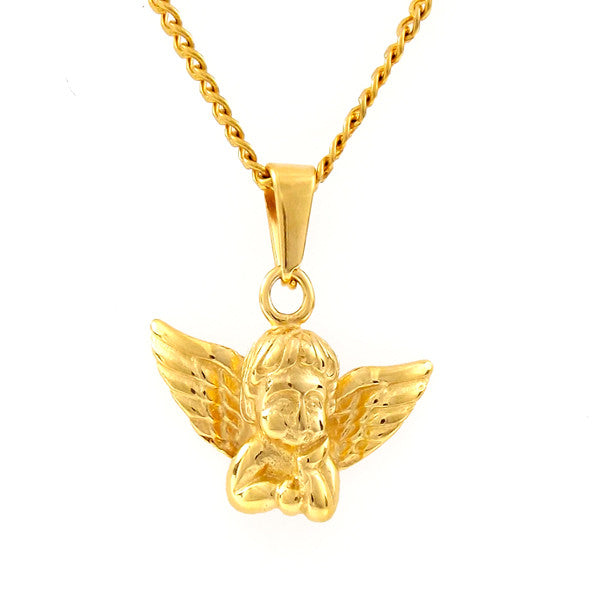 Gold Guardian Angel Necklace