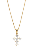 Necklace - 18kt Gold Mini Cross - Tossari  - 3