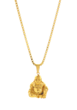 Necklace - 18kt Gold Properity Fat  Buddha - Tossari  - 3