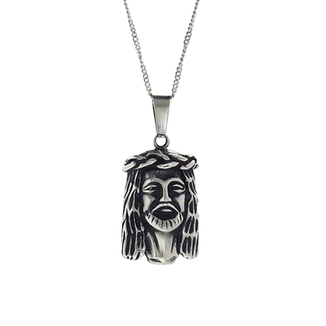 Necklace - Silver Micro Jesus Piece Necklace - Tossari  - 1