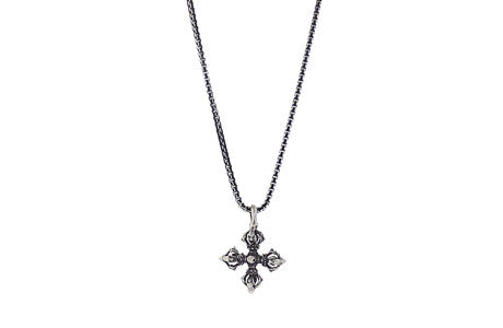 Necklace - Silver Vajra Star Necklace - Tossari  - 2