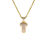 Necklace - 18kt Gold Bubble T