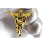 Necklace - 18kt Gold Cherub  Baby Angel - Tossari  - 4